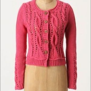 Rosie Neira Anthropologie Eton Cropped Cardigan